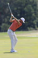 Lucas Bjeregaard (DEN) plays his 3rd shot on the 16th hole during Saturday's Round 3 of the Porsche European Open 2018 held at Green Eagle Golf Courses, Hamburg Germany. 28th July 2018.<br /> Picture: Eoin Clarke | Golffile<br /> <br /> <br /> All photos usage must carry mandatory copyright credit (&copy; Golffile | Eoin Clarke)