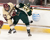 Bill Arnold (BC - 24), Connor Brickley (UVM - 23) - The Boston College Eagles defeated the visiting University of Vermont Catamounts to sweep their quarterfinal matchup on Saturday, March 16, 2013, at Kelley Rink in Conte Forum in Chestnut Hill, Massachusetts.