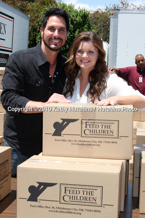 "Don Diamont & Heather Tom.at the ""Daytime Gives Back"" Feed The Children Event.Salvation Army.Van Nuys, CA.May 26, 2010.©2010 Kathy Hutchins / Hutchins Photo.."