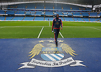 Ashley Williams of Swansea City ahead of the Barclays Premier League match between Manchester City and Swansea City played at the Etihad Stadium, Manchester on December 12th 2015