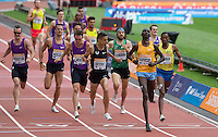 Asbel KIPROP of Kenya wins the EMSLEY CARR MILE in a time of 3.54.87 during the Sainsbury's Anniversary Games, Athletics event at the Olympic Park, London, England on 25 July 2015. Photo by Andy Rowland.