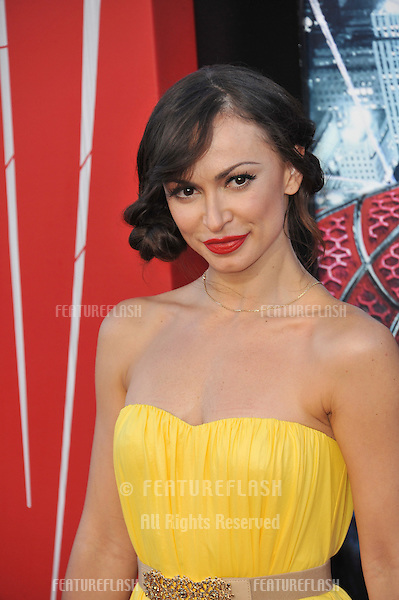 "Karina Smirnoff at the world premiere of ""The Amazing Spider-Man"" at Regency Village Theatre, Westwood..June 29, 2012  Los Angeles, CA.Picture: Paul Smith / Featureflash"