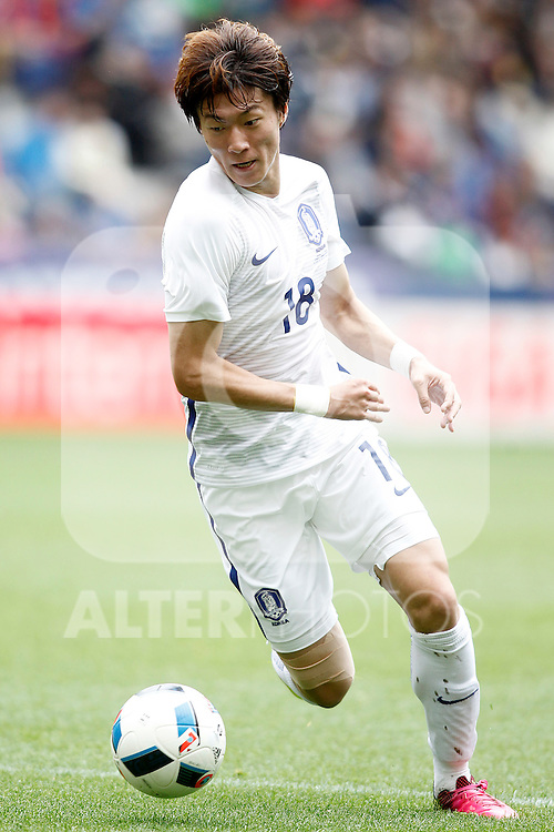 South Korea's Ui Jo Hwang during friendly match. June 1,2016.(ALTERPHOTOS/Acero)