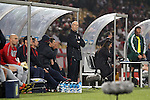 12 JUN 2010: United States head coach Bob Bradley (center).  The England National Team and the United States National Team were tied 1-1 after the first half at Royal Bafokeng Stadium in Rustenburg, South Africa in a 2010 FIFA World Cup Group C match.