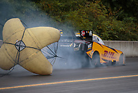 Sep 14, 2018; Mohnton, PA, USA; NHRA funny car driver J.R. Todd during qualifying for the Dodge Nationals at Maple Grove Raceway. Mandatory Credit: Mark J. Rebilas-USA TODAY Sports