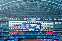 A view of a baseball match between the Toronto Blue Jays and the Detroit Tigers at the Rogers Centre, Toronto, Ontario.