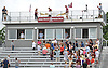 The press box of Garden City High School's athletic field is named after late historian and statistician Jack &quot;Jake&quot; White during a dedication ceremony in his honor prior to the start of a Nassau County Conference II varsity football game against Manhasset on Saturday, September 12, 2015.<br />