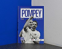 Jack Whatmough and Brett Pitman of Portsmouth on the print of the match day programme during Portsmouth vs Doncaster Rovers, Sky Bet EFL League 1 Football at Fratton Park on 2nd February 2019