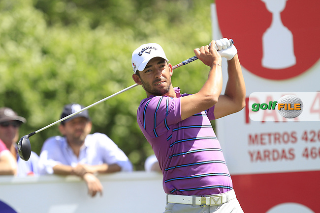 Pablo Larrazabal (ESP) on the 9th tee during Round 2 of the Open de Espana  in Club de Golf el Prat, Barcelona on Friday 15th May 2015.<br /> Picture:  Thos Caffrey / www.golffile.ie