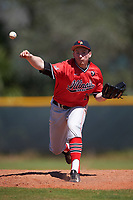 Illinois State Redbirds starting pitcher David Meade (26) delivers a pitch during a game against the Northwestern Wildcats on March 6, 2016 at North Charlotte Regional Park in Port Charlotte, Florida.  Illinois State defeated Northwestern 10-4.  (Mike Janes/Four Seam Images)
