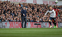 Tottenham Hotspur manager Mauricio Pochettino watches on during the Premier League match between Tottenham Hotspur and Bournemouth at White Hart Lane, London, England on 15 April 2017. Photo by Mark  Hawkins / PRiME Media Images.