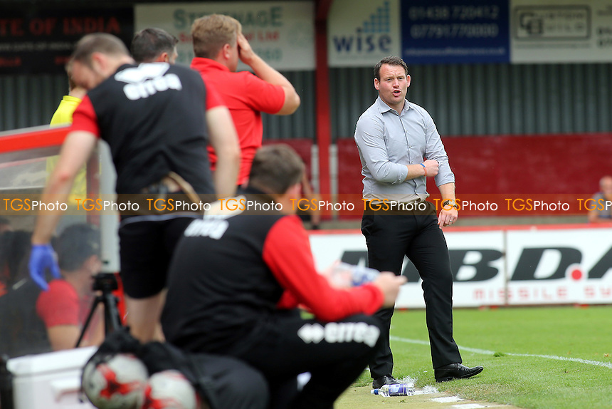 Stevenage Manager, Darren Sarll during Stevenage vs MK Dons, Friendly Match Football at the Lamex Stadium on 30th July 2016