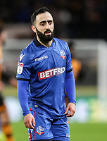 Bolton Wanderers' Erhun Oztumer <br /> <br /> Photographer Andrew Kearns/CameraSport<br /> <br /> The EFL Sky Bet Championship - Hull City v Bolton Wanderers - Tuesday 1st January 2019 - KC Stadium - Hull<br /> <br /> World Copyright © 2019 CameraSport. All rights reserved. 43 Linden Ave. Countesthorpe. Leicester. England. LE8 5PG - Tel: +44 (0) 116 277 4147 - admin@camerasport.com - www.camerasport.com
