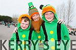 Enjoying the ST Patrick's day parade in Milltown on Tueday  were Michael Griffin,Siobhan and Lachlan Griffin