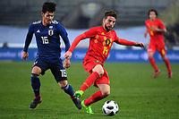 Yamaguchi Hotaru midfielder of Japan, Dries Mertens forward of Belgium  <br /> Foto Insidefoto