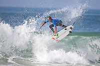 EVAN GEISELMAN (USA)  SEIGNOSSE, France (Tuesday, September 29, 2009) - The last day of the Quiksilver Pro France saw 15-year-old Brazilian wonder kid, GABRIEL MEDINA  (BRA) winning the Quiksilver World King Of the Groms Finals in historic style. Medina defeated fellow Brazilian CAIO IBELLI (BRA) when he scored a maximum possible 20-point combined heat score in the final in an unbelievable display of surfing talent. The two perfect 10-point scores were given by the judges, which rewarded Medina's incredible technical ability. Few surfers in the world today can boast such a repertoire of aerial manoeuvres, even fewer can perform this level of surfing heat after heat in a competition environment... ..Medina combined two or more aerial reverses, aerial 360's or 'superman' manoeuvres on the same wave, all day long. Having scored another 10-point ride in his first quarterfinal heat of the day his intention was clear. It would seem the unassuming Medina would be the man to beat, and the man to take home the prestigious prize of Wild Card entries into the ASP World Tour events of the Quiksilver Gold Coast and the Quiksilver Pro France in 2010. Photo: joliphotos.com