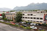 Hoval AG, Vaduz, Liechtenstein.Aufnahme aus 10m Höhe.©Photo: Paul J.Trummer, Mauren / FL.