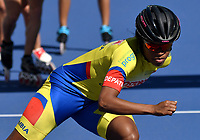 HEERDE - NETHERLANDS: 29-07-2018: Geiny Pájaro, patinadora de la Selección Colombia, durante entreno en el patinodromo Skeelereclub Oost Velluwe en la ciudad de Heerde en Holanda. / Geiny Pajaro, skater of the Colombia Team, during a training at the skating rink Skeelereclub Oost Velluwe in the city of Heerde in Netherlans. / Photo: VizzorImage / Luis Ramirez / Staff.