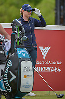 Holly Clyburn (ENG) looks over her tee shot on 1 during round 1 of  the Volunteers of America LPGA Texas Classic, at the Old American Golf Club in The Colony, Texas, USA. 5/4/2018.<br /> Picture: Golffile | Ken Murray<br /> <br /> <br /> All photo usage must carry mandatory copyright credit (&copy; Golffile | Ken Murray)