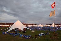 Sunset view over the Main Square at the World Scout Jamboree. Photo: Magnus Fröderberg/Scouterna