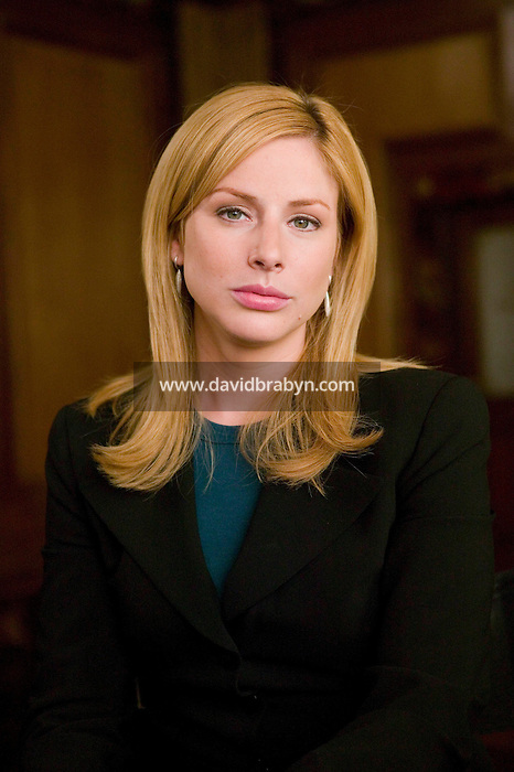 "8 May 2006 - North Bergen, NJ - Diane Neal poses for the photograph as character ADA Casey Novak on the studio set of television show ""Law & Order: SVU"" in North Bergen, USA, 8 May 2006."