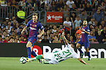 Deulofeu in action during La Liga game between FC Barcelona v Betis at Camp Nou