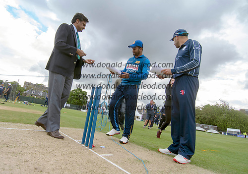 Scotland V Sri Lanka 2nd One Day International at Grange CC, Edinburgh - toss - picture by Donald MacLeod - 21.05.19 - 07702 319 738 - clanmacleod@btinternet.com - www.donald-macleod.com