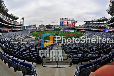 30 March 2008: The new seats are ready to welcome fans to Opening Day, as the Washington Nationals get ready to inaugurate Nationals Park in Washington, DC. The Nationals christened their  new ballpark with a win over the visiting Atlanta Braves 3-2 in the first game at the state-of-the-art sports facility...Mandatory Photo Credit: Ed Wolfstein Photo