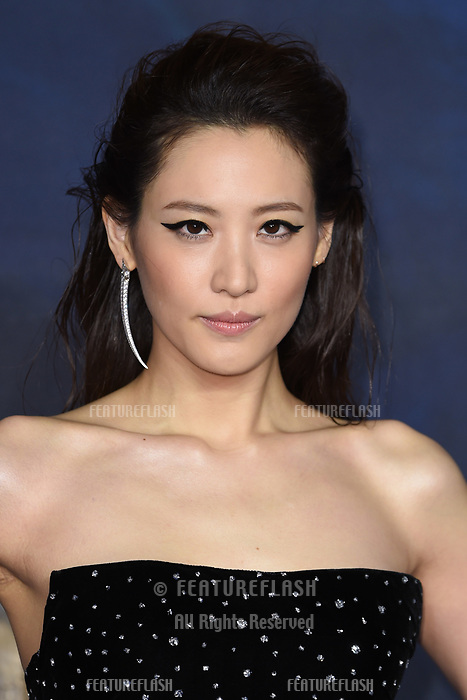 LONDON, UK. November 13, 2018: Claudia Kim at the &quot;Fantastic Beasts: The Crimes of Grindelwald&quot; premiere, Leicester Square, London.<br /> Picture: Steve Vas/Featureflash