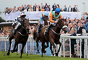 June 10th 2017, Chester Racecourse, Cheshire, England; Chester Races Horse racing; Adam McNamara on Starlight Romance wins the Liverpool Gin Stakes with Connor Murtagh on Bona coming in second