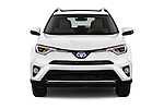 Car photography straight front view of a 2018 Toyota RAV4 Hybrid-Limited-4x4 5 Door SUV Front View