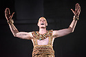 """EMBARGOED UNTIL FRIDAY 4th MARCH 2016, 7:30pm: London, UK. 02.03.2016. English National Opera presents """"Akhnaten"""", composed by Philip Glass, and directed by Phelim McDermott. Picture shows: Zachary James (Scribe). Photograph © Jane Hobson."""
