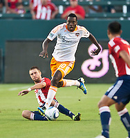 CARSON, CA – July 23, 2011: Houston Dynamo midfielder Je_Vaughn Watson (10) during the match between Chivas USA and Houston Dynamo at the Home Depot Center in Carson, California. Final score Chivas USA 3, Houston Dynamo 0.