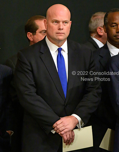 Acting Attorney General Matthew G. Whitaker waits for the ceremony honoring former United States President George H.W. Bush, who will Lie in State in the Rotunda of the US Capitol, to begin on Monday, December 3, 2018.<br /> Credit: Ron Sachs / CNP<br /> (RESTRICTION: NO New York or New Jersey Newspapers or newspapers within a 75 mile radius of New York City)
