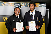Boys Rugby League finalists Mika Fa'amausili & Samuela Lousi. ASB College Sport Young Sportperson of the Year Awards 2008 held at Eden Park, Auckland, on Thursday November 13th, 2008.