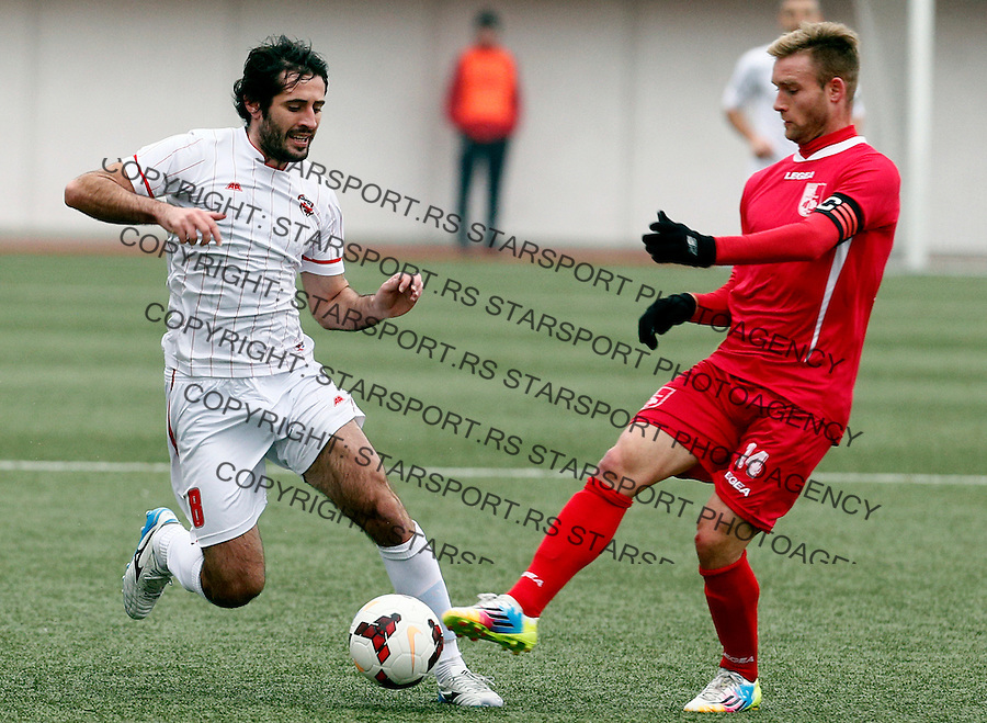 Stefan Babovic Milos Petrovic Jelen Super Liga Superliga Srbija JSL Vozdovac - Radnicki Nis 7.12.2014 (credit image & photo: Pedja Milosavljevic / STARSPORT).