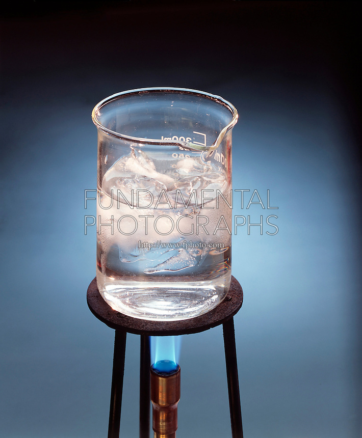 PHASES OF WATER: SOLID, LIQUID &amp; GASEOUS (2 of 4)<br /> Ice Becomes Liquid  When Heated Above 0 deg. C.<br /> Water in liquid state takes on form of container. Melting ice is favored by entropy but disfavored by enthalpy. The entropy &amp; enthalpy terms for both processes balance each other at 0 deg C.