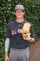 Kyle Hurt (28) of Torrey Pines High School in San Diego, California poses for a photo before the Under Armour All-American Game presented by Baseball Factory on July 23, 2016 at Wrigley Field in Chicago, Illinois.  (Mike Janes/Four Seam Images)