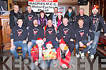MAGPIES MCC TOY RUN: Member's of the Magpies M.C.C. launching their annual Kerry General Hospital Toy Run which will be held on the 17th of December at 11:30 from the Abbey Inn, Tralee front l-r: Jody and Cody Goggin and Jamie Regan. Centre l-r: Dave Mulvihill, Johnny Enright, Martain Prenderville (president), Pat Keating and Alan Hartnett. Back l-r: Michael O'Regan (The boss), Paddy White, Joan Keating, Brian Kirwan, Anna Kirwan, Amanda Doyle, James Russell and Tony Goggin.