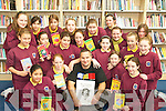 BOOK WEEK: Oisin McGann  one of Irelands top writers of children's fiction pictured with students from Scoil Mhuire Gan Small  when he visitied Castleisland Library on Friday  during the Children's Book Festival.. Front row L/r. Bianca Arino, Maura O'Connell, Oisin McGann, Michelle Beazley, Clodagh O'Sullivan..Second row L/r. Karolina Sobczak, Amy Long, Rachel McDonnell, Christine Brosnan, Allison McGaley, Laura Mallon, Grace McCarthy..Back row L/r. Shannon O'Sullivan, Sylvia Formela, Karolina Puchala, Clodagh Collins, Siobhan Horan, Katie O'Connor, Lucy Baker and Mairead O'Connor. .    Copyright Kerry's Eye 2008