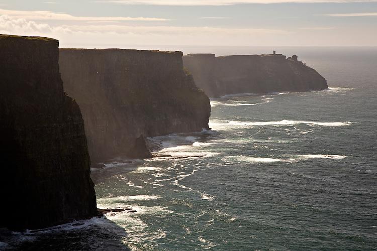 Cliffs of Moher meet the Atlantic Ocean