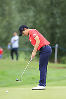 Minkyu Kim (KOR) putts on the 3rd green during Sunday's Final Round of the Northern Ireland Open 2018 presented by Modest Golf held at Galgorm Castle Golf Club, Ballymena, Northern Ireland. 19th August 2018.<br /> Picture: Eoin Clarke | Golffile<br /> <br /> <br /> All photos usage must carry mandatory copyright credit (&copy; Golffile | Eoin Clarke)
