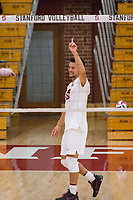 STANFORD, CA - January 2, 2018: Evan Enriques at Burnham Pavilion. The Stanford Cardinal defeated the Calgary Dinos 3-1.