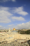 Israel, Jerusalem Old City, a view of Temple Mount from the Jewish Quarter
