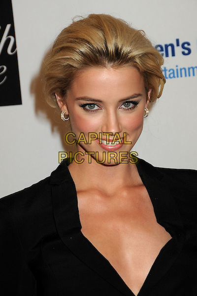 AMBER HEARD.EIF's Women's Cancer Research Fund Benefit held at the Beverly Wilshire Hotel, Beverly Hills, California, USA..January 27th, 2010.headshot portrait black big hair .CAP/ADM/BP.©Byron Purvis/AdMedia/Capital Pictures.