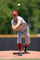 Starting pitcher Tom Milone #26 of the Potomac Nationals in action versus the Winston-Salem Dash at Wake Forest Baseball Park May 10, 2009 in Winston-Salem, North Carolina. (Photo by Brian Westerholt / Four Seam Images)