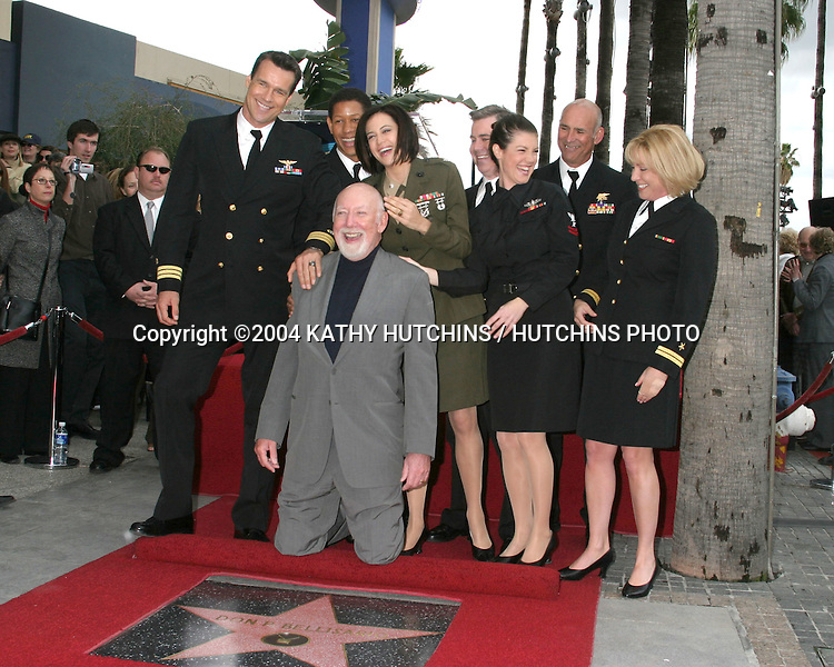 ©2004 KATHY HUTCHINS /HUTCHINS PHOTO.DONALD P. BELLASARIO STAR ON THE.HOLLYWOOD WALK OF FAME.HOLLYWOOD, CA.MARCH 2, 2003..DONALD P. BELLASARIO.JAG CAST