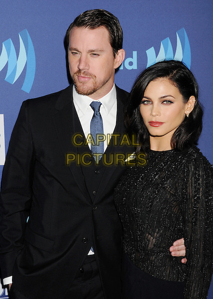 BEVERLY HILLS, CA - MARCH 21: Actors Channing Tatum (L) and Jenna Dewan attend the 26th Annual GLAAD Media Awards at The Beverly Hilton Hotel on March 21, 2015 in Beverly Hills, California.<br /> CAP/ROT/TM<br /> &copy;TM/ROT/Capital Pictures