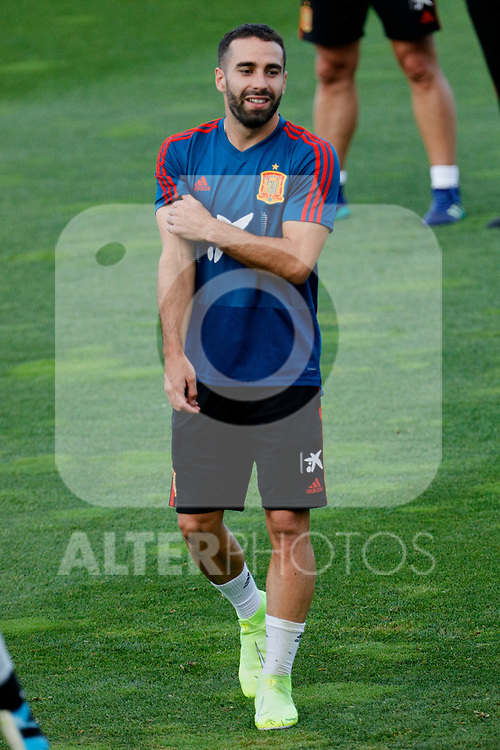 Dani Carvajal during the Trainee Session at Ciudad del Futbol in Las Rozas, Spain. September 02, 2019. (ALTERPHOTOS/A. Perez Meca)