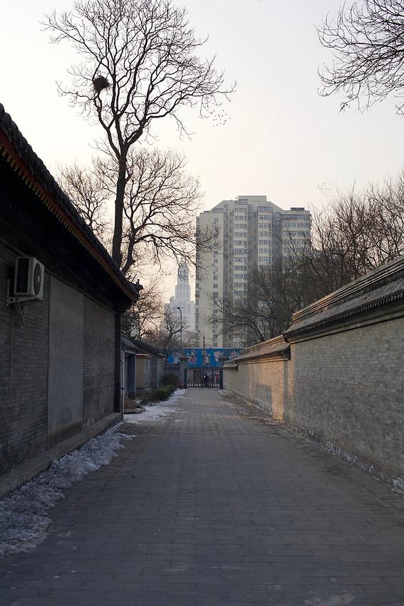 Contre-allée dans la grande mosquée de Pékin.